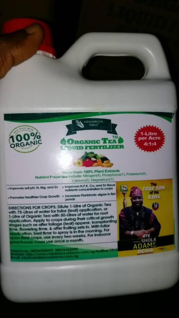 MiddleBrook Farms Nigeria - Buy MBF Organic Liquid Fertilizer